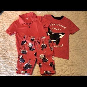 Old Navy Boys Shirts and Shorts Set